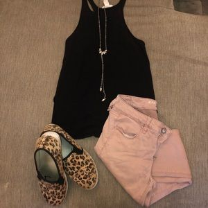Pink colored American Eagle jeggings!